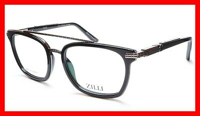 955c32a77cf ZILLI Eyeglasses Frame Acetate Titanium Black France Hand Made ZI 60017 C02