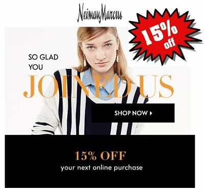 Neiman Marcus Coupon 15% Off (Expires Oct 30, 2018) *CLICK HERE* FAST THANK YOU