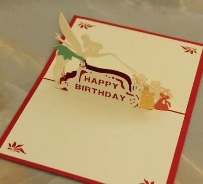 CozyPop 3D Pop Up Card Fairy Happy Birthday Greeting Cards