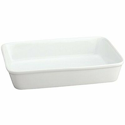 HIC Oblong Rectangular Baking Dish Roasting Lasagna Pan, Porcelain, 13x9x2.5