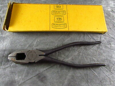 """Vintage Proto 266 6 1/4"""" Long Lineman's Pliers USA Made NOS S-9"""