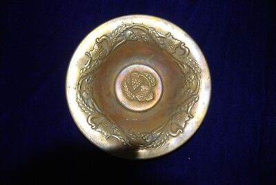 Rare Original Antique brass Church Collection Dish Date from C1870