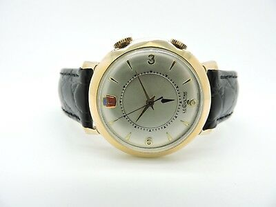 Le Coultre Rare Vintage Ford Motor Company/ Henry Ford II Alarm Wristwatch 9386