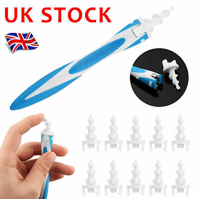 Safe Earpick Tool Ear Wax Cleaner Removal Easy Swab Earwax Remover Spiral Soft