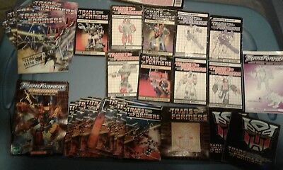 Transformers G1 Instruction Book Lot