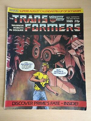 The Transformers Marvel comic fortnightly issue  #23 rare 1985 vintage