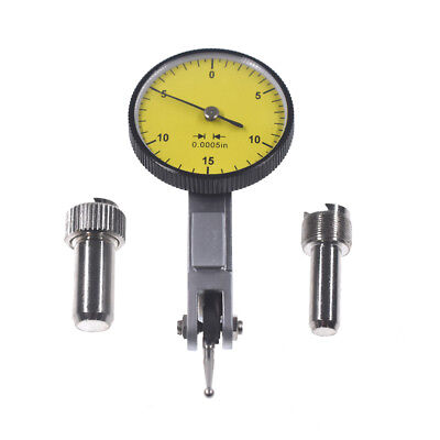 "Yellow Precision 0.030"" Test Indicator 0. 0005"" GR Dial Reading 0-15-0 New"