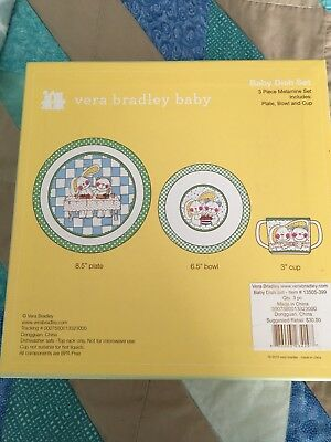 Vera Bradley Baby Baby Dish Set - Plate, Bowl, Cup With Gift Box