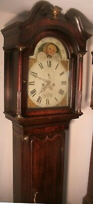"Antique  Oak  Moon Phase Dial ""  Welshpool ""  Longcase / Grandfather Clock"