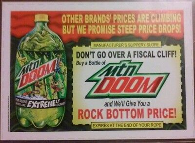 2013 Topps Wacky Packages MOUNTAIN DOOM 5×7 Original Match Print With COA *RARE*