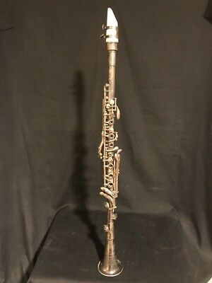 Antique IMPERIAL Silverplated Metal Clarinet Original Instrument Made in USA