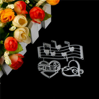 Music Heart Embossing Cutting Dies for Scrapbooking Decor Craft Card Making TO