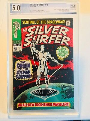 Silver Surfer #1, VG/FN, PGX 5.0, not CGC or CBCS, OW/W Pages, Origin Storyline.