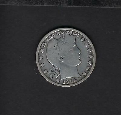US 1905-P Silver Barber Half Dollar in VG Very Good Condition