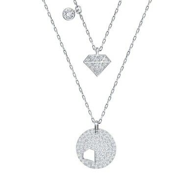 0a16565bf AUTHENTIC SWAROVSKI CRYSTAL Wishes White Crystal Necklace 2 pic Set ...