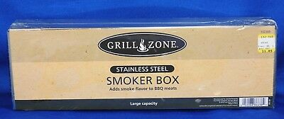 NEW Grill Zone Smoker Box Model 132360 Large Capacity Stainless Steel