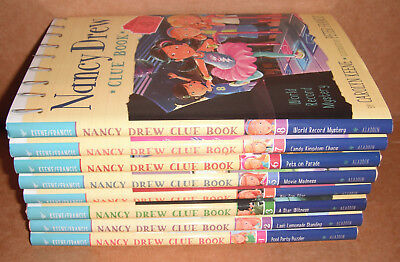 Nancy Drew Clue Book Vol.1,2,3,4,5,6,7,8 by Carolyn Keene Hardcover