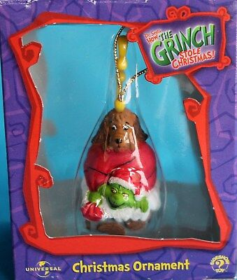 Dr Suess How the Grinch Stole Christmas Ornament NIB Dog Reindeer Universal