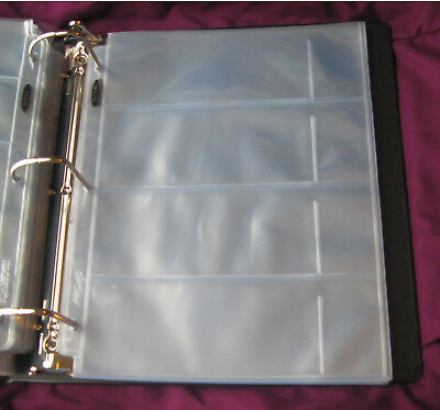 Lot of 20 BCW 4-Pocket Currency Album Pages binder sheets