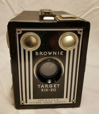 Vintage Eastman Kodak Target Brownie Six-20 Box Camera , Art Deco Design