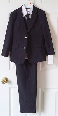 Rafael Collection Little Boys 5 Piece  Special Occasion Suit, Black Size 6 READ