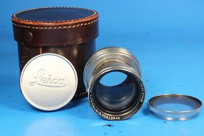 Leica Ernst Leitz Wetzlar Summitar f=5cm 50mm 1:2 Camera Lens with Filter & Case