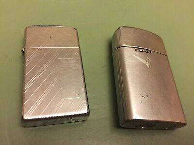 Two Used Lighters: Vintage Ronson Varaflame Windlite Lighter / Zippo .Not Tested