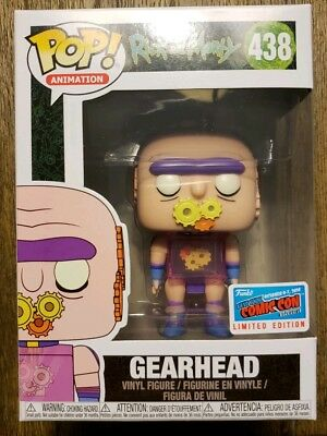 2018 NYCC Animation Rick and Morty Gearhead Funko Pop