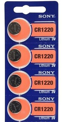 4 Sony CR1220 ECR1220 1220 DL1220 3V Lithium Battery