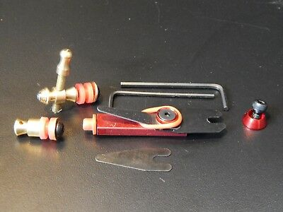 Custom Tattoo Machine Red Contact And Binder Set-Used Spare Parts-Ink-Frame-