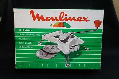 Vintage Moulinex Rotary Slicer Shredder Grater with 3 Discs Mouli Julienne