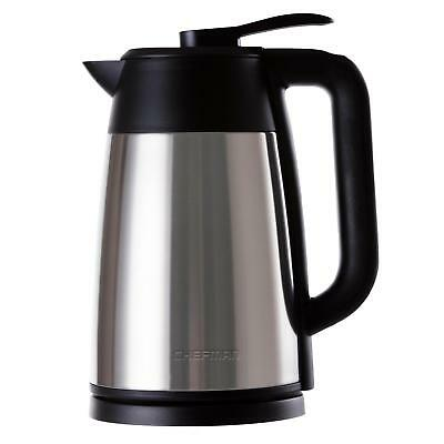 Chefman Cordless Electric Kettle, Stainless Steel Premium Grade Carafe Style w/