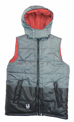 LRG Black Quilted Hooded Puffer Vest Big Boys Outerwear Jacket XL #LBF47488