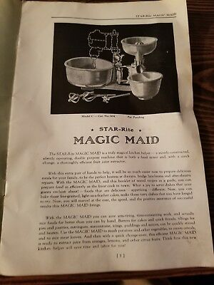 Star Rite Magic Maid Instructions Book