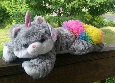 Nwt Plush Caticorn Half + Unicorn Half Cat = All Magic Super Soft Cutiecorn 18""