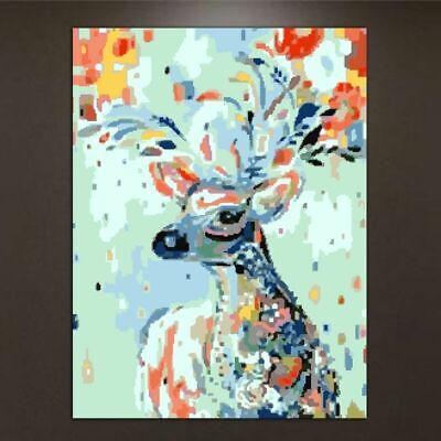Acrylic Paint By Number Kit Framed DIY Oil Painting Drawing On Canvas Home Decor