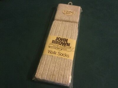 Pair John Brown Walk Socks, new in pack, vintage - the Pure Australian Sock Co