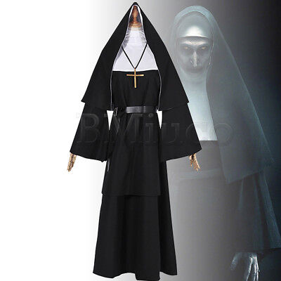 The Conjuring Scary Suit Women Dress For The Nun Valak Cosplay Costume Nun Dress