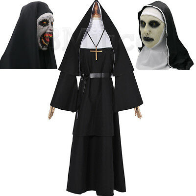 Women Nun Robes Dress For The Conjuring Scary Suit The Nun Valak Cosplay Costume