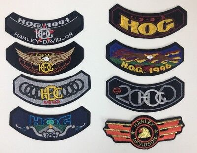 Lot Of 8 Harley Davidson Patches 2000 2007 Hog Owners Group