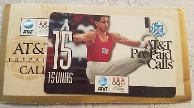 1996 Olympics Collectible At&t Prepaid Phone Cards ~ 15 Units / Minutes.
