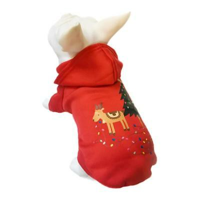 Pet Puppy Dog Christmas Clothes Hoodie Jacket Coat Sweater Party Costume Apparel