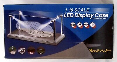 Display Cabinet Led 1:18 for Model Cars, 4 Strahlern Plexiglas/Silver T9