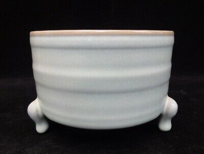 Old Chinese Ru Kiln Celadon Porcelain Brush Washer Deep Censer