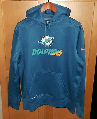 NEW NIKE NFL Miami Dolphins Sideline S S Therma Hoodie Men s Medium ... c178bcc7a
