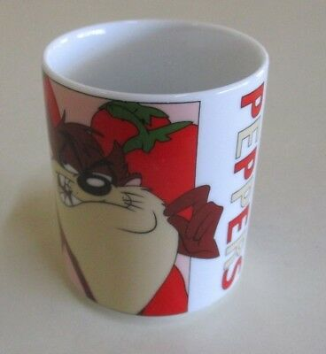 Looney Tunes Peppers / Eggplant Cup - Taz and Porky Pig - Warner Brothers - 1999