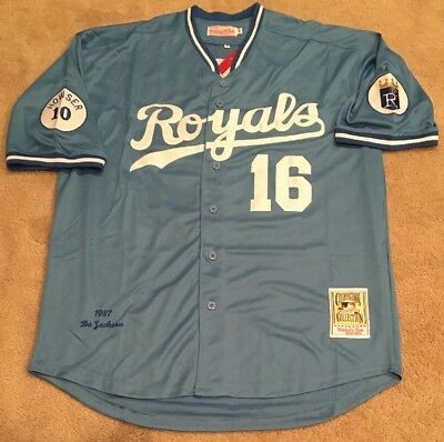 sale retailer ef3a2 9f263 australia bo jackson kansas city royals throwback jersey ...