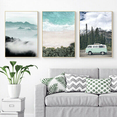 Scandinavian Travel Landscape Poster Nordic Style Wall Art Canvas Prints Picture