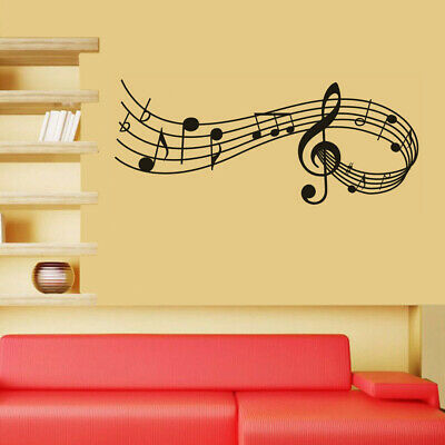 Music Notes Band Room Home Removable Wall Stickers Decals Vinyl DIY Wall Decor