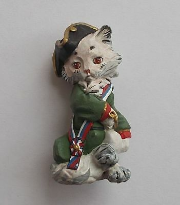 Hand Painted Cat Tin Metal Miniature Figurine Collectibles Gift Russian souvenir